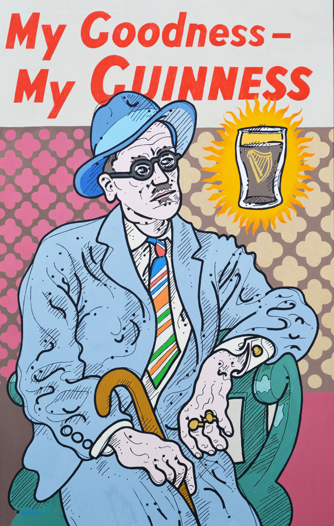 Steve Justice Art - The Dubliner:  portrait of James Joyce