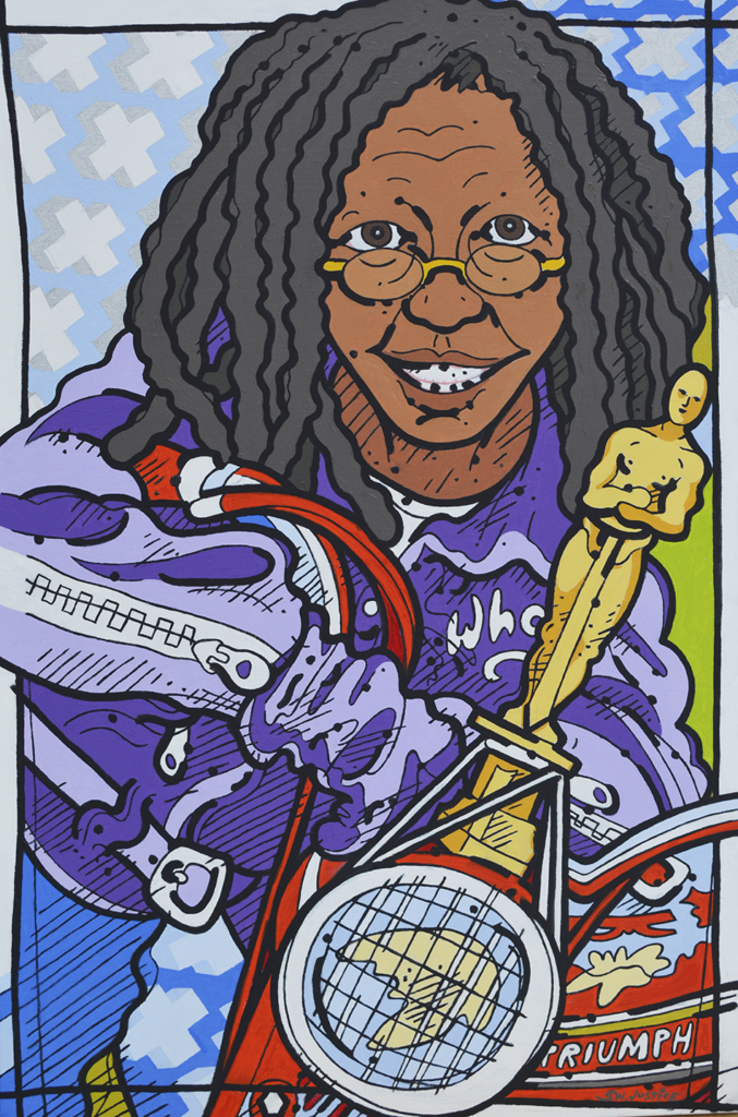 Steve Justice Studio: Who Knows: portrait of Whoopi Goldberg