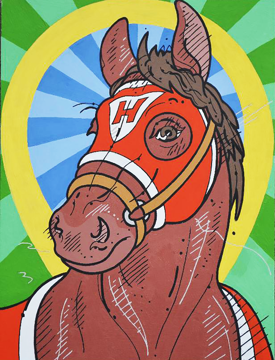 Steve-justice-Studio-There's-A-Red-Horse-Over-Yonder